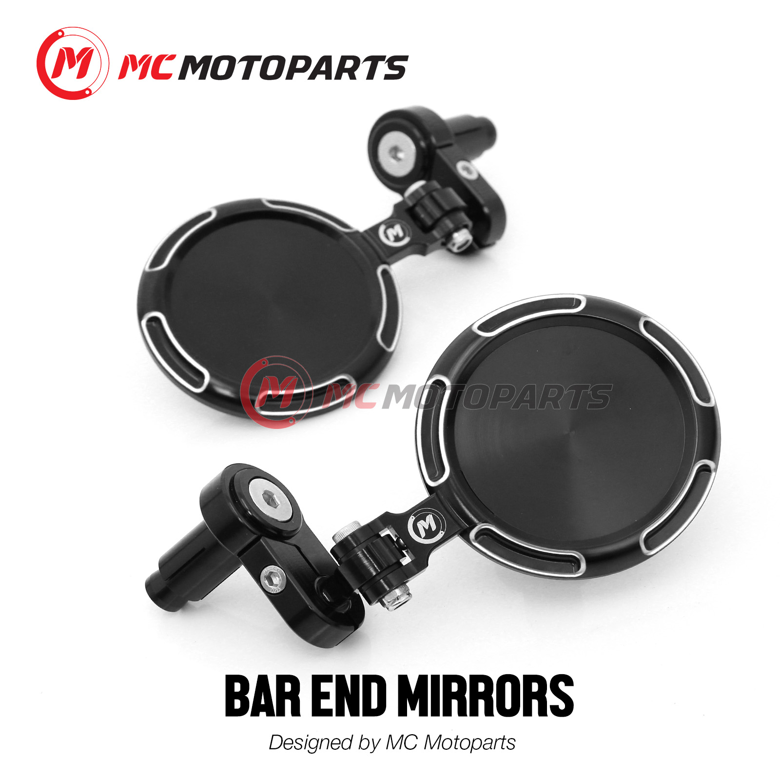 Red SONIC bar end mirror