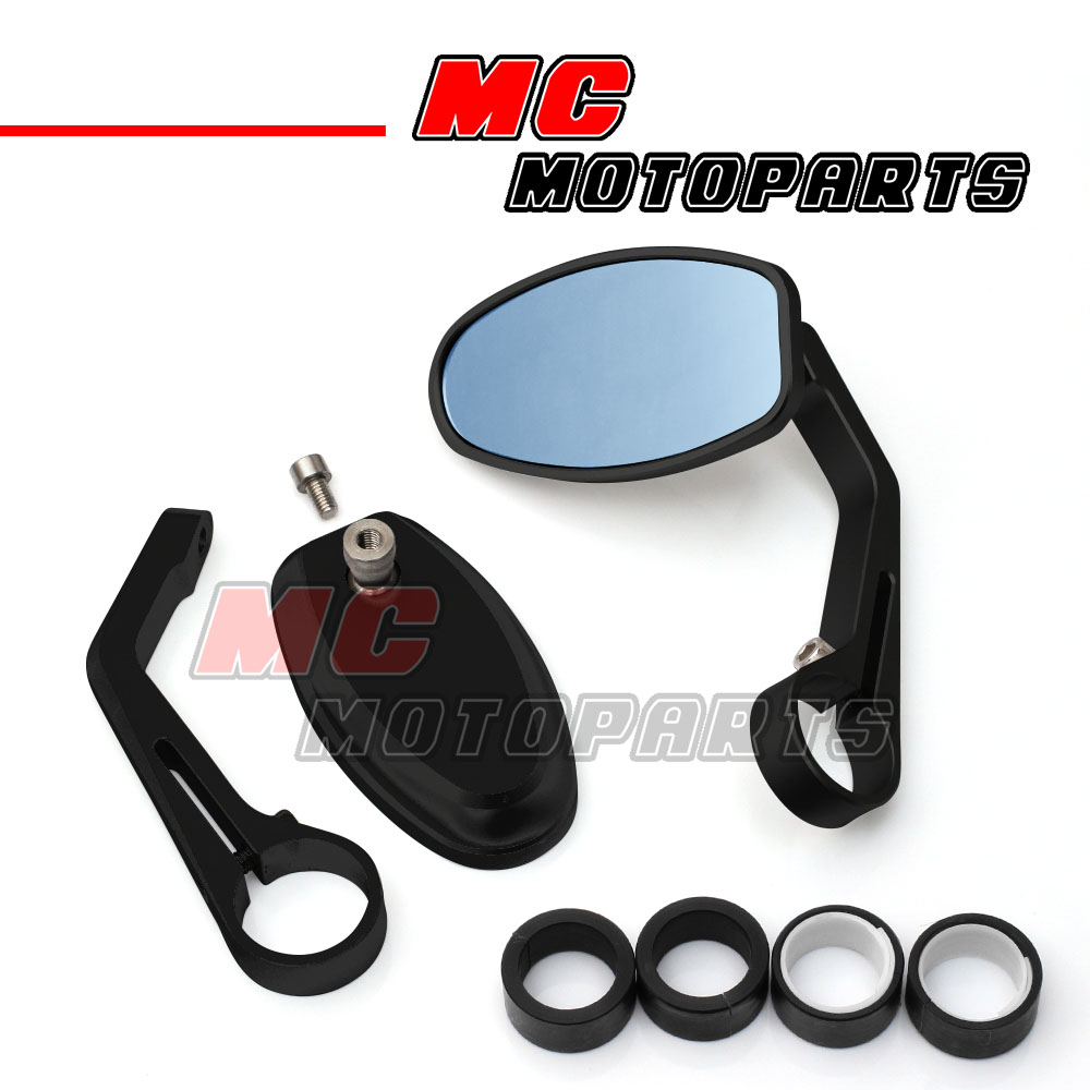 Pair CNC Motorcycle Bar End Rearview Side Mirror For Harley Triumph Speed Triple