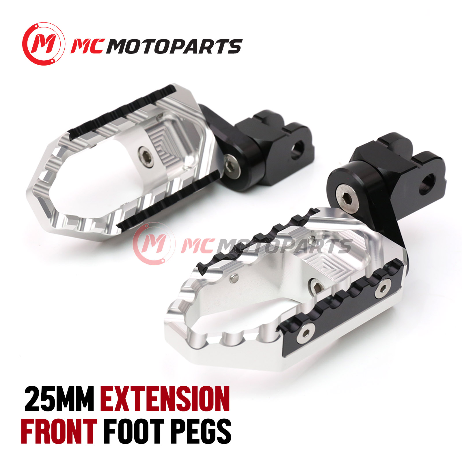 For Honda CBR900RR 92 93 94 95 96 97 98 6 Color 25mm Adjustable Front Foot pegs