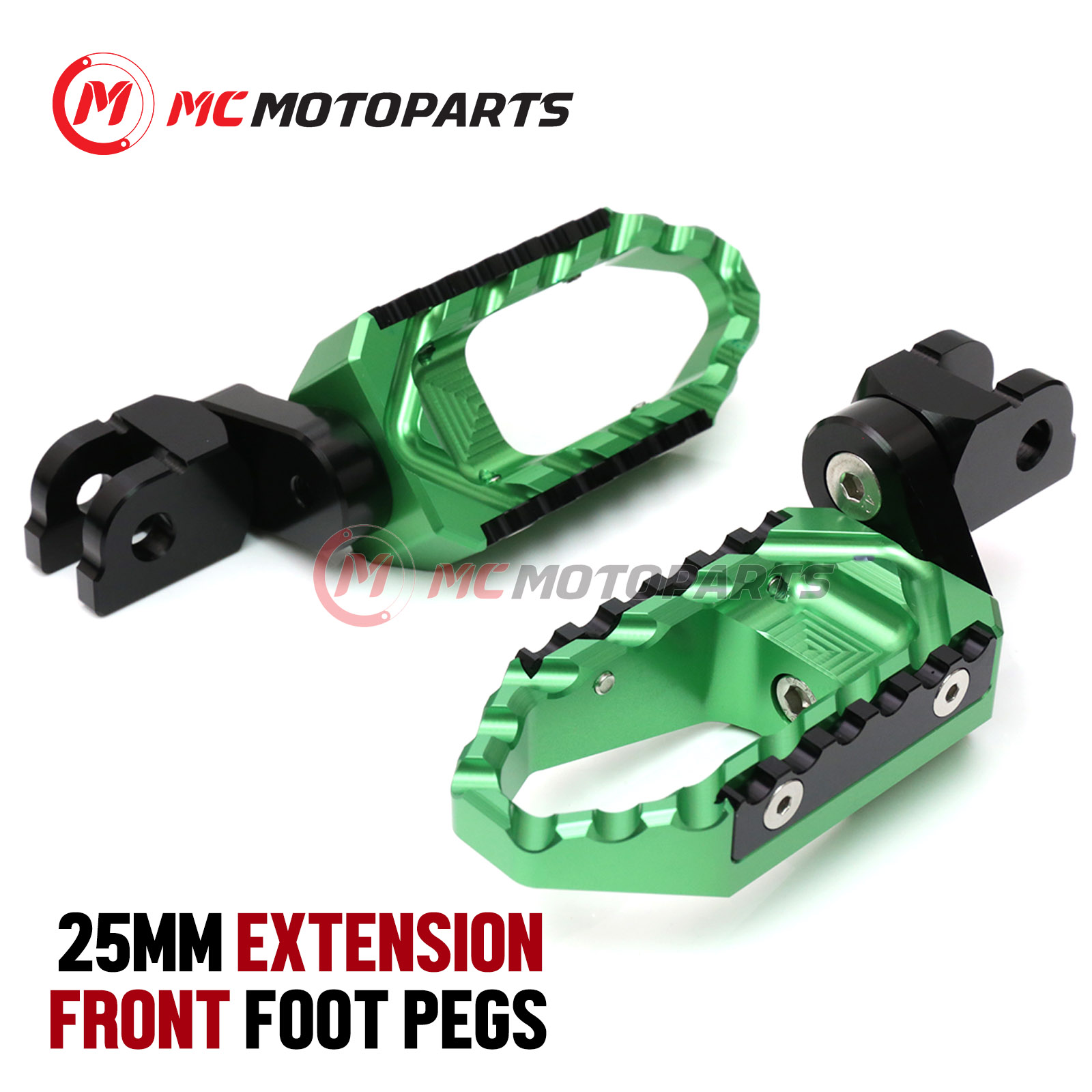 Silver CNC 40mm Adjustable Riser Front Touring Foot Pegs For Honda NC700 S//X 2012-2016