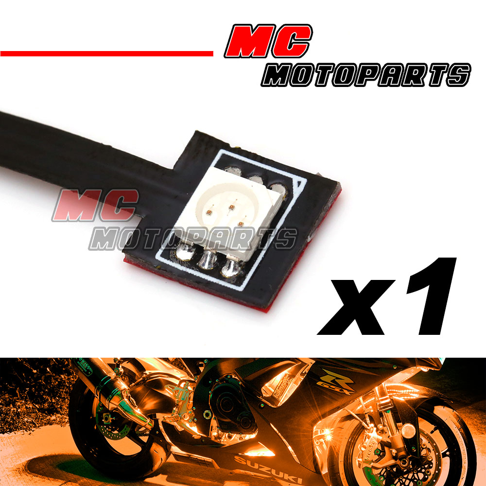 1 pc Yellow Tiny Prewired SMD LED 5050 12V Light Bike Car Motorcycle ...