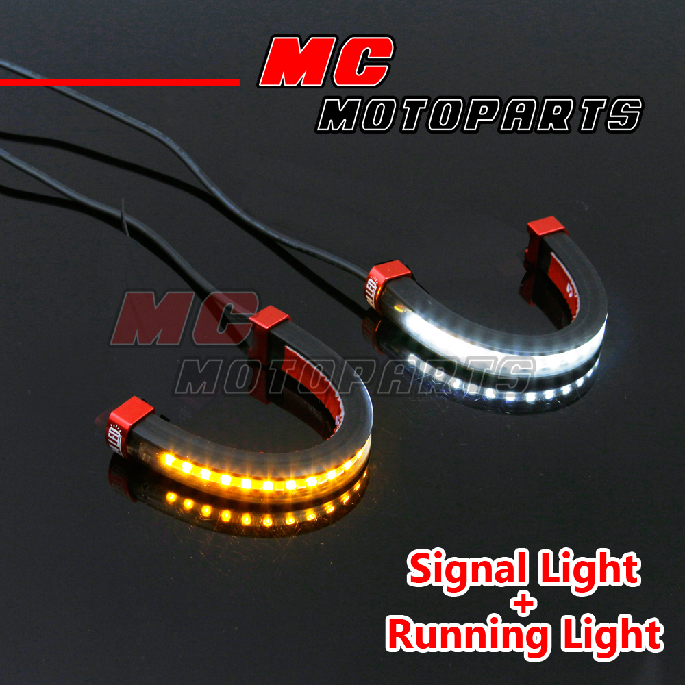 Led Front Fork Light Turn Signal Running Indicator For Ducati S2r 800 Wiring Diagram Monster 1200 14 16 Ebay
