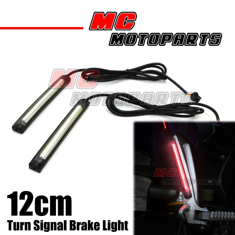 Rear Footpegs Brake Signal Led Strip Lights 120mm For Zx6r Zx10r Flasher Zx14r Zx7r Zx9r