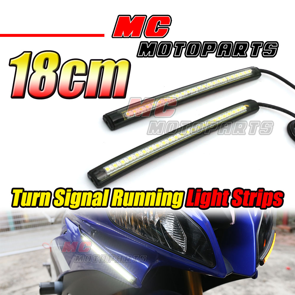 Front Running Turn Signal Led Strip Lights 180mm Fit Cbr600 F4 F4i Cbr600rr Wiring Diagram Image Is Loading