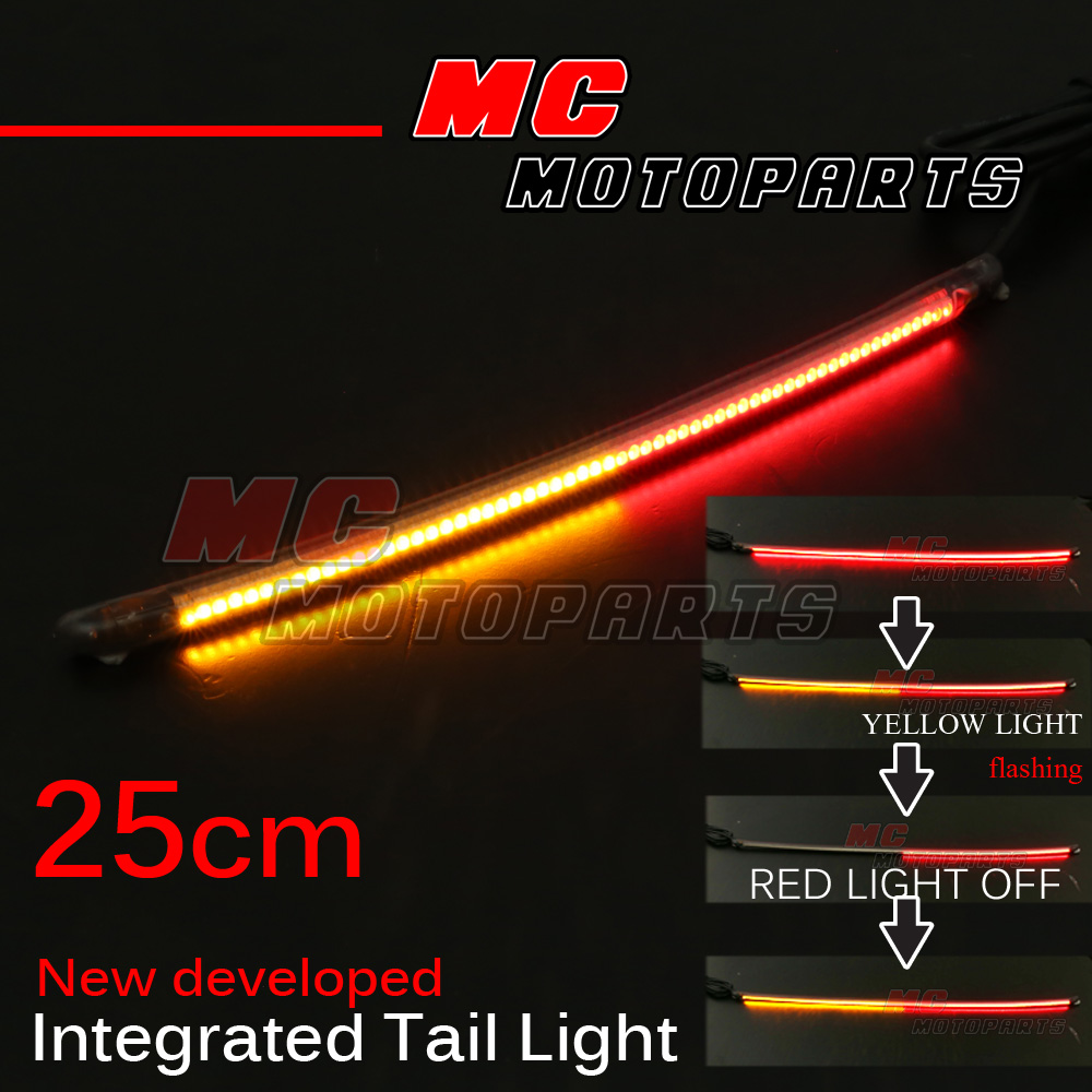 25cm integrated turn tail light signal light led strip fit black wire negative aloadofball Image collections