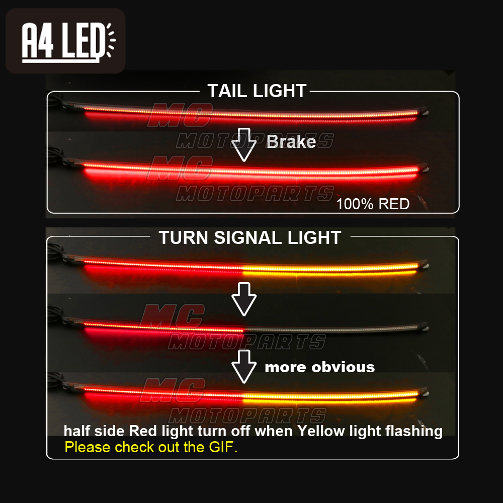 Rear brake turn signal strip 40cm led light fit ducati suzuki rear brake turn signal strip 40cm led light fit ducati suzuki kawasaki yamaha aloadofball Image collections