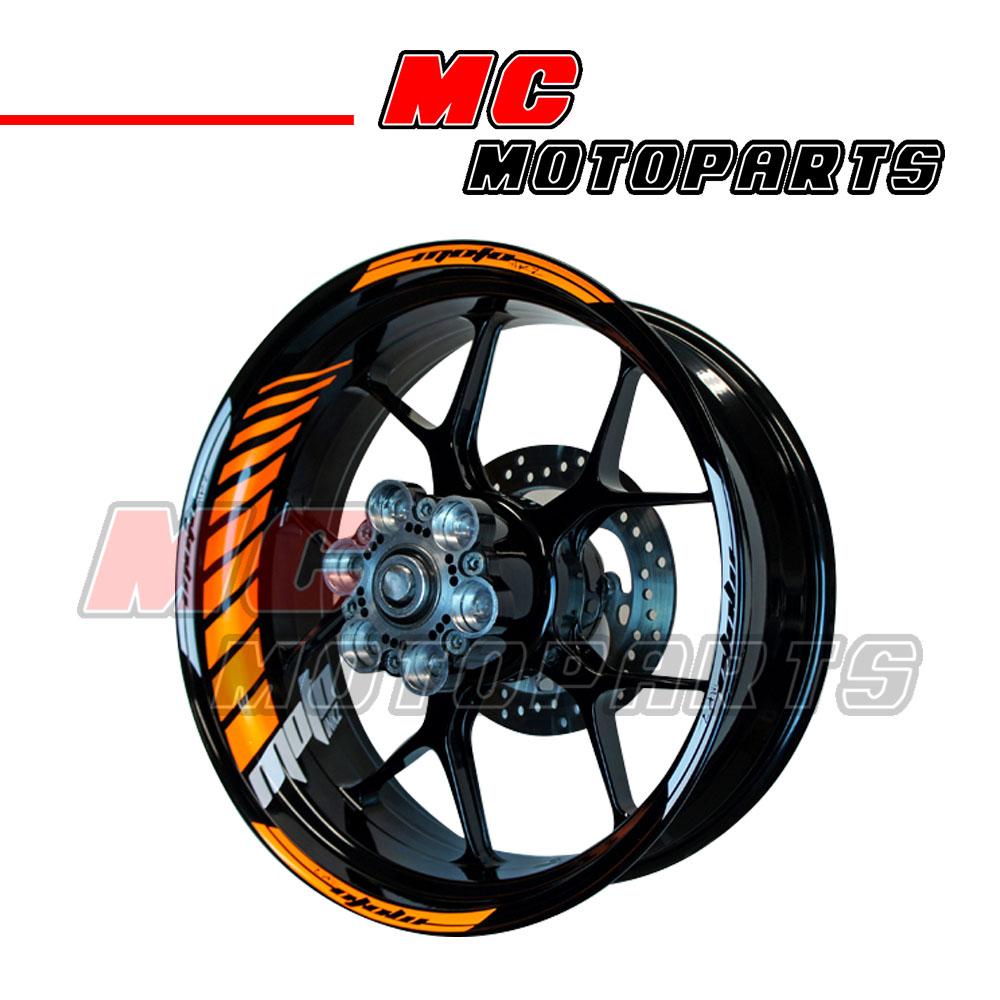 Racing Orange Fluorescent Rim Wheel Stickers GP2 For Kawasaki Z1000SX NINJA 1000