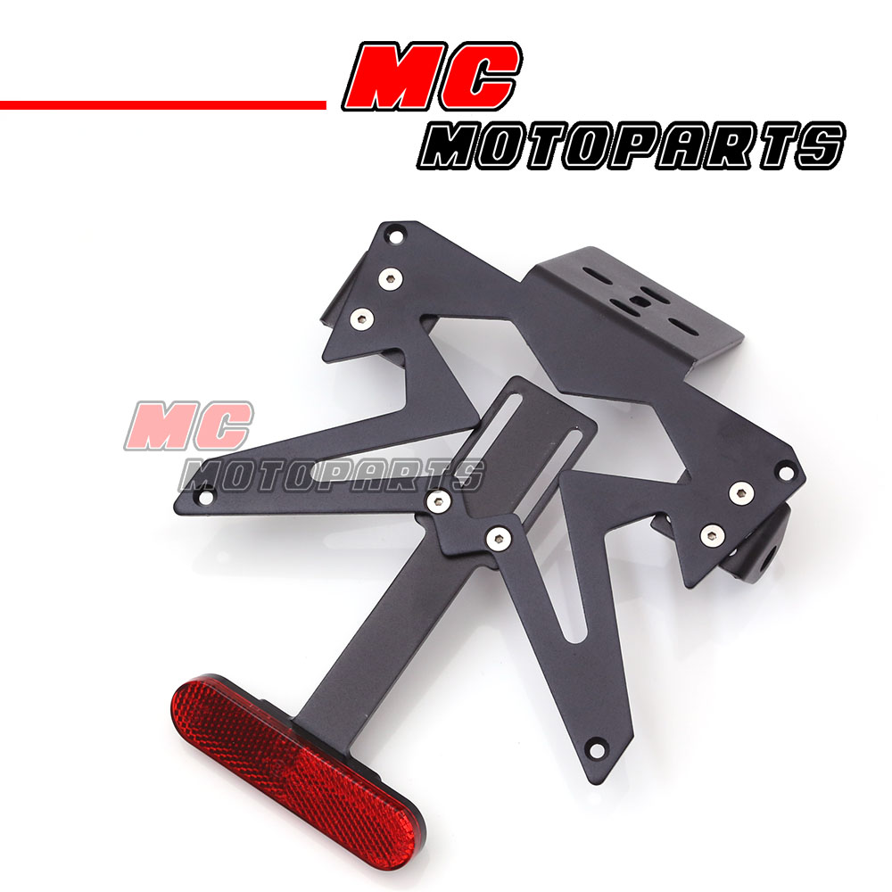 Motorbike Tail Tidy Adjustable Number License Plate Holder UNIVERSAL FIT