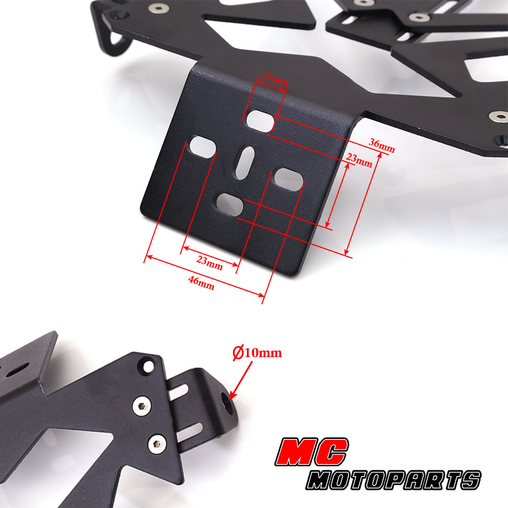 DIY Tail Tidy Licence Plate Bracket Reflector Fit For Motorcycle   eBay