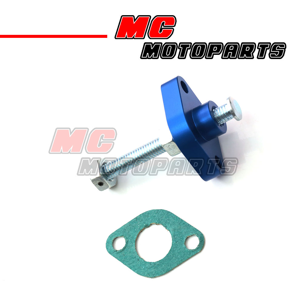 Blue CNC Manual Cam Chain Tensioner For ATV Yamaha YXR 660 Rhino 04 05 06 07