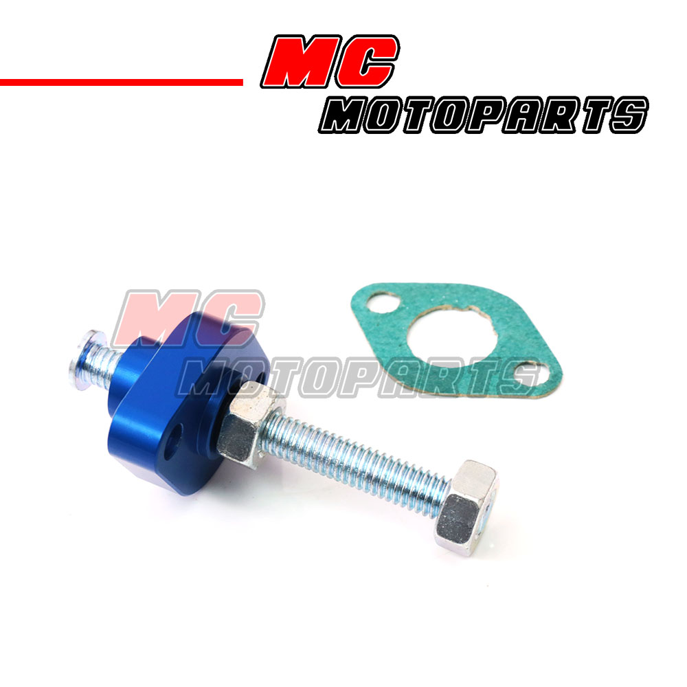 Image is loading CNC-Blue-Manual-Cam-Chain-Tensioner-Fit-Yamaha-