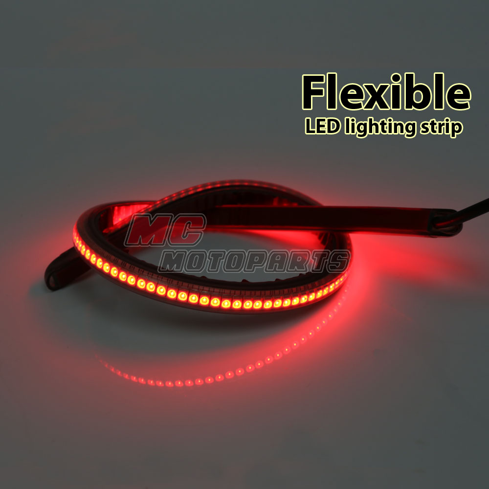 Smoke 21cm LED Flexible Tail Brake Light Tube For Yamaha Motorcycles