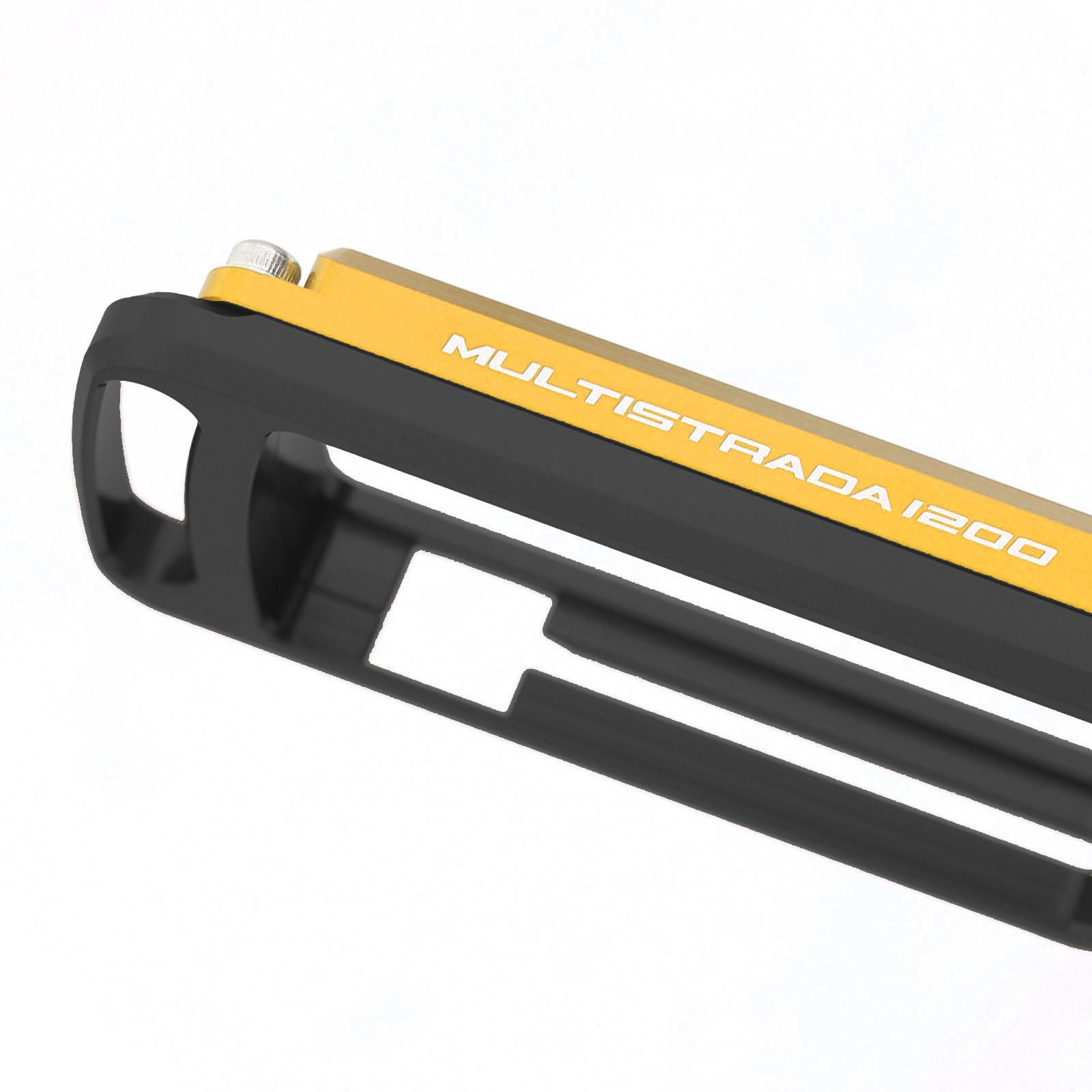 Ducati Multistrada 1200 S Black Gold Red Motorcycle Key Case Holder