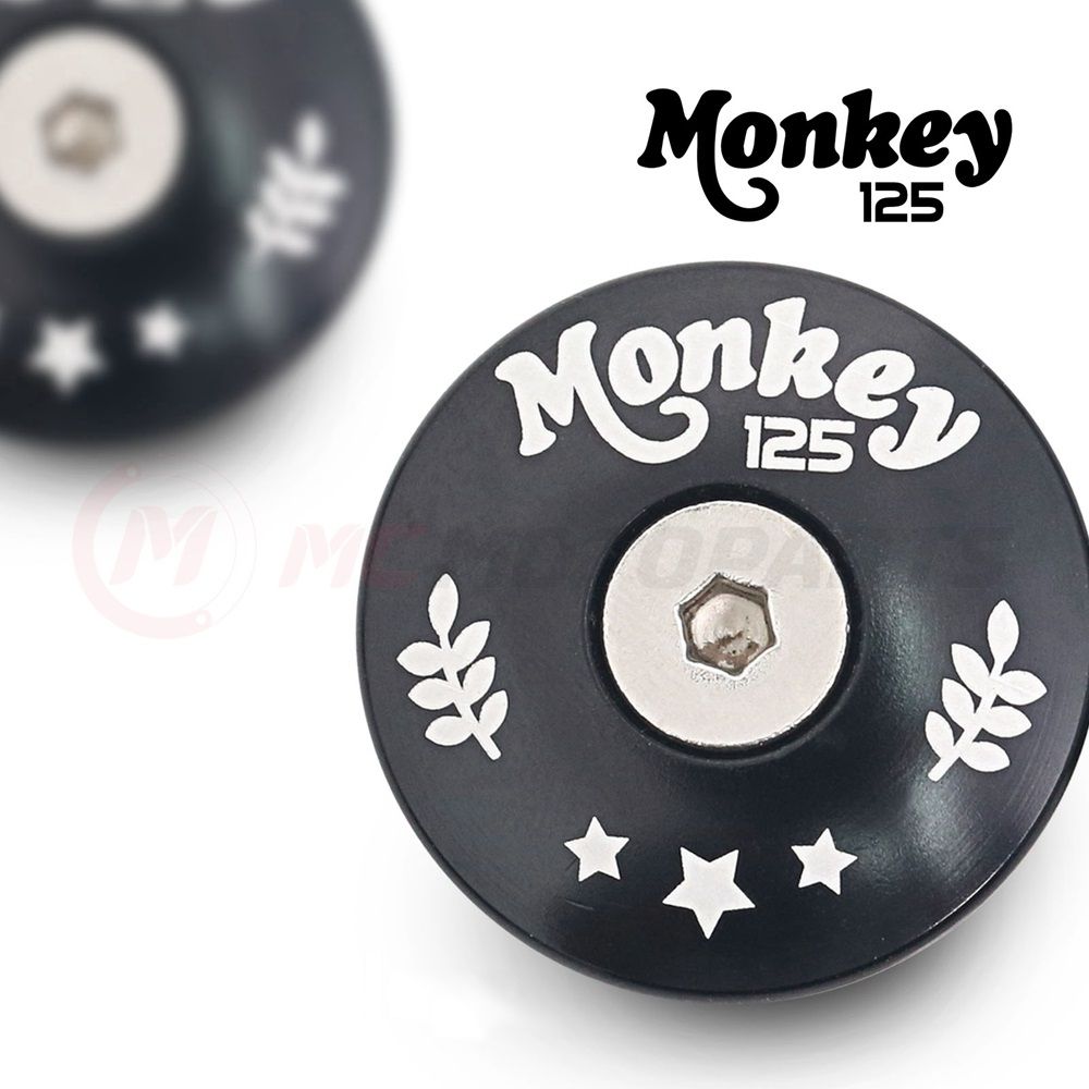 MC Motoparts CNC Monkey 125 logo engraved frame plugs