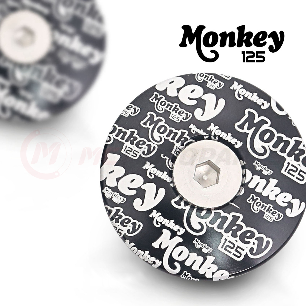MC Motoparts CNC graffiti Monkey 125 logo engraved frame plugs