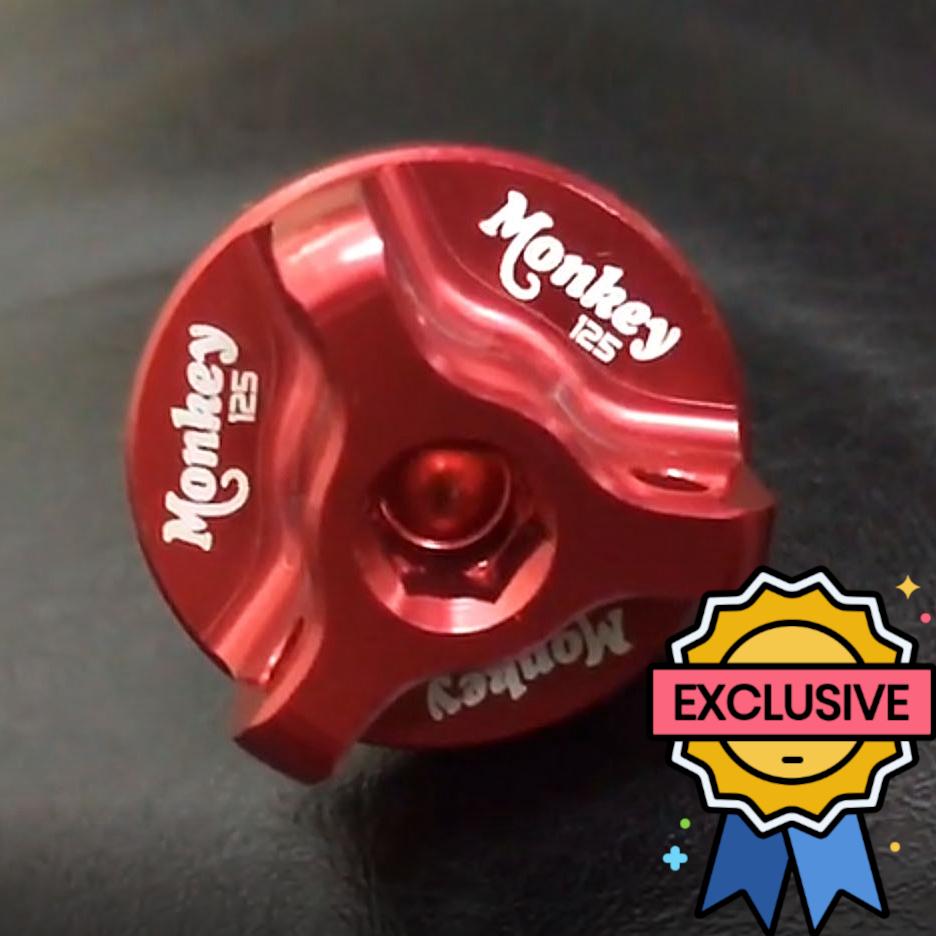 Honda Monkey 125 Engraved Red Oil Filler Cap